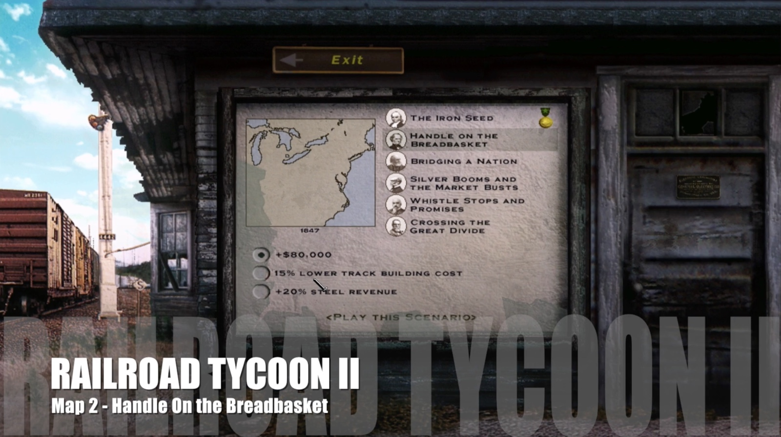 Railroad Tycoon II – Map 02 – Handle on the Breadbasket