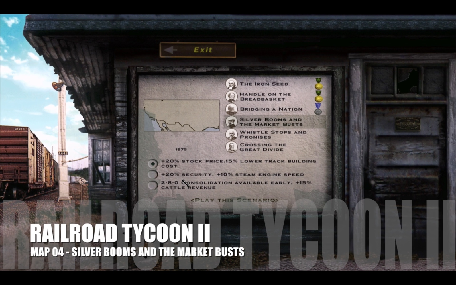 Railroad Tycoon II – Map 04 – Silver Booms and the Market Busts