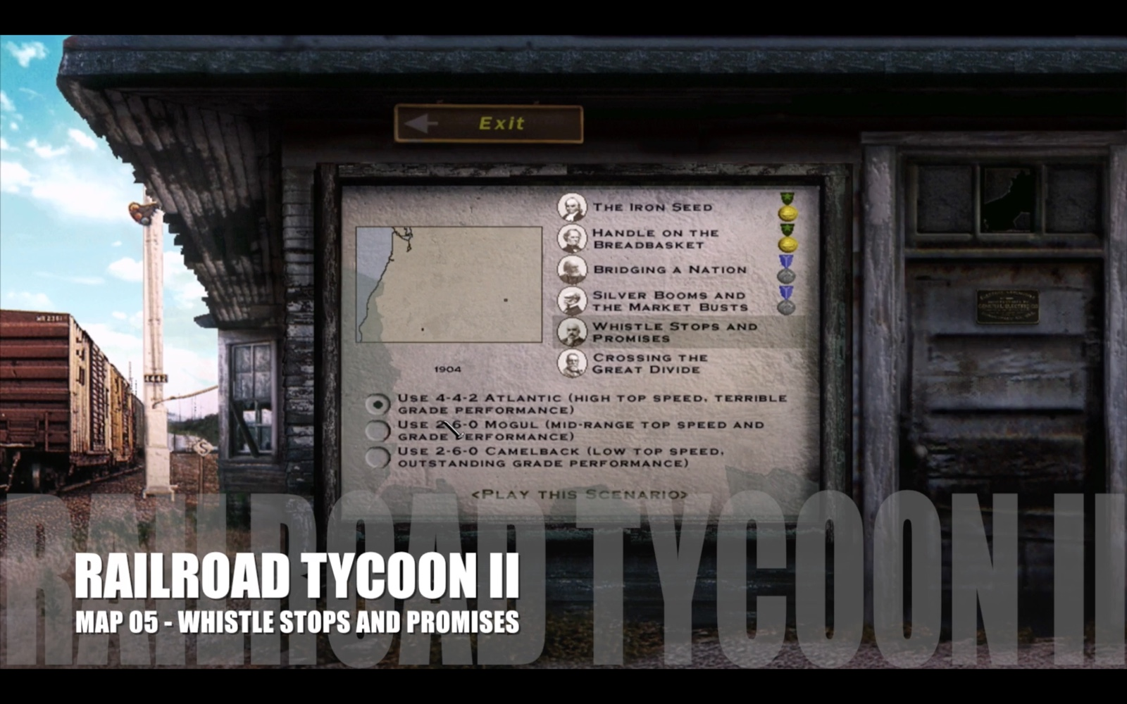 Railroad Tycoon II – Map 05 – Whistle Stops and Promises