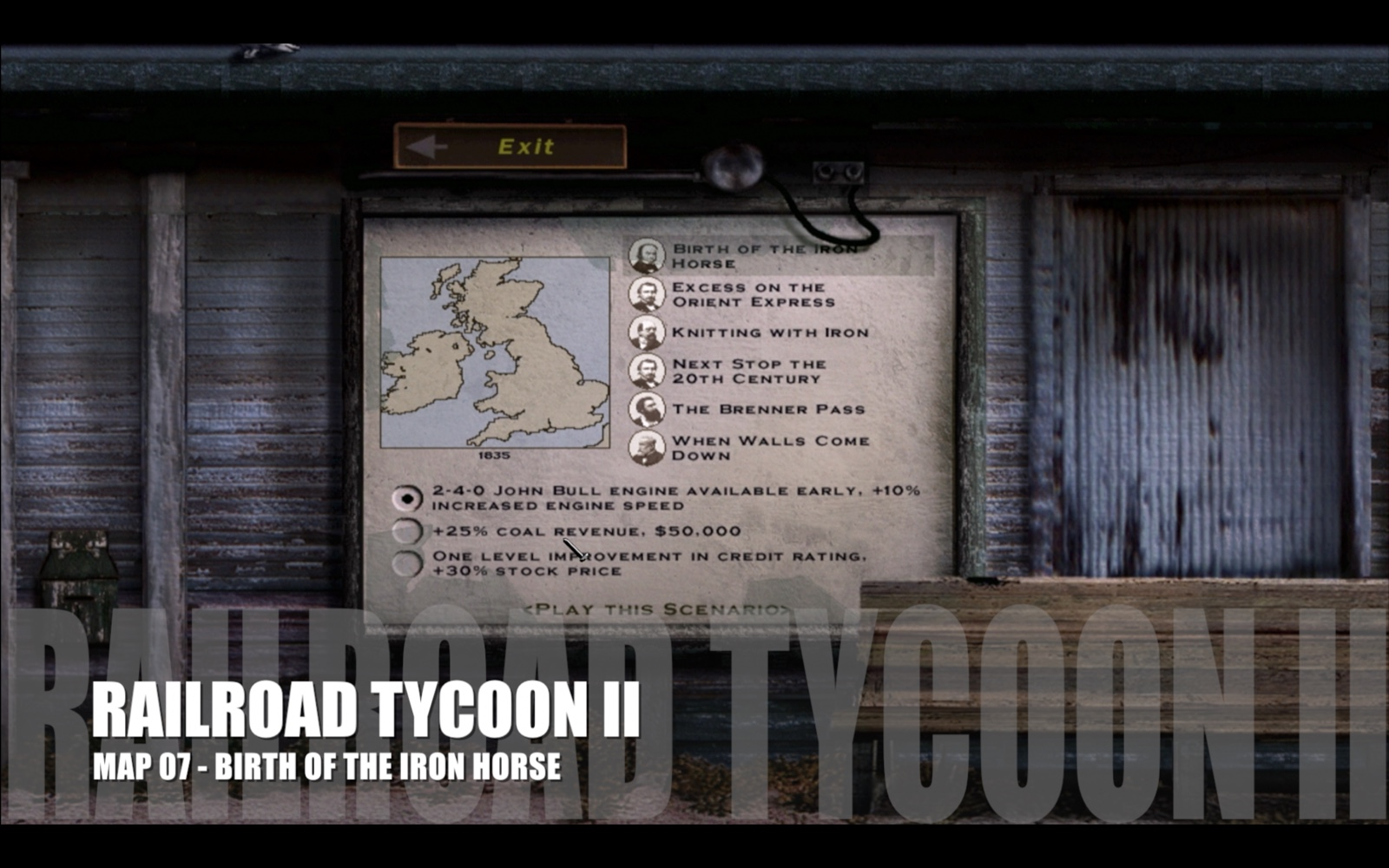 Railroad Tycoon II – Map 07 – Birth of the Iron Horse