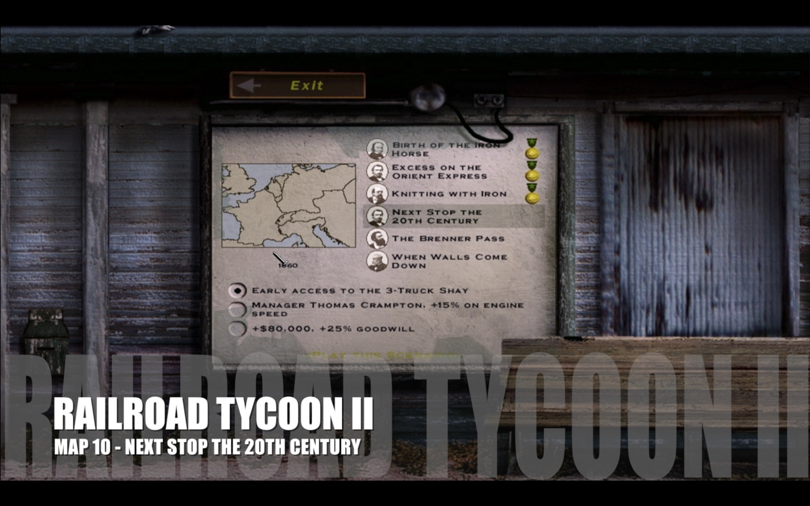 Railroad Tycoon II – Map 10 – Next Stop the 20th Century
