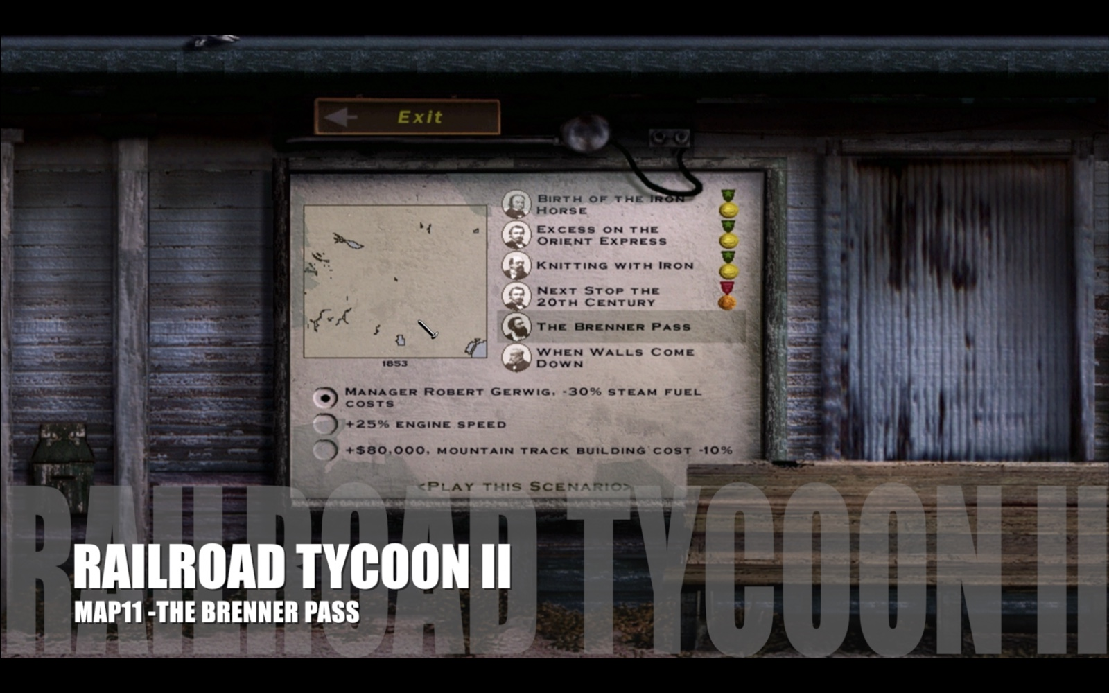 Railroad Tycoon II – Map 11 – The Brenner Pass
