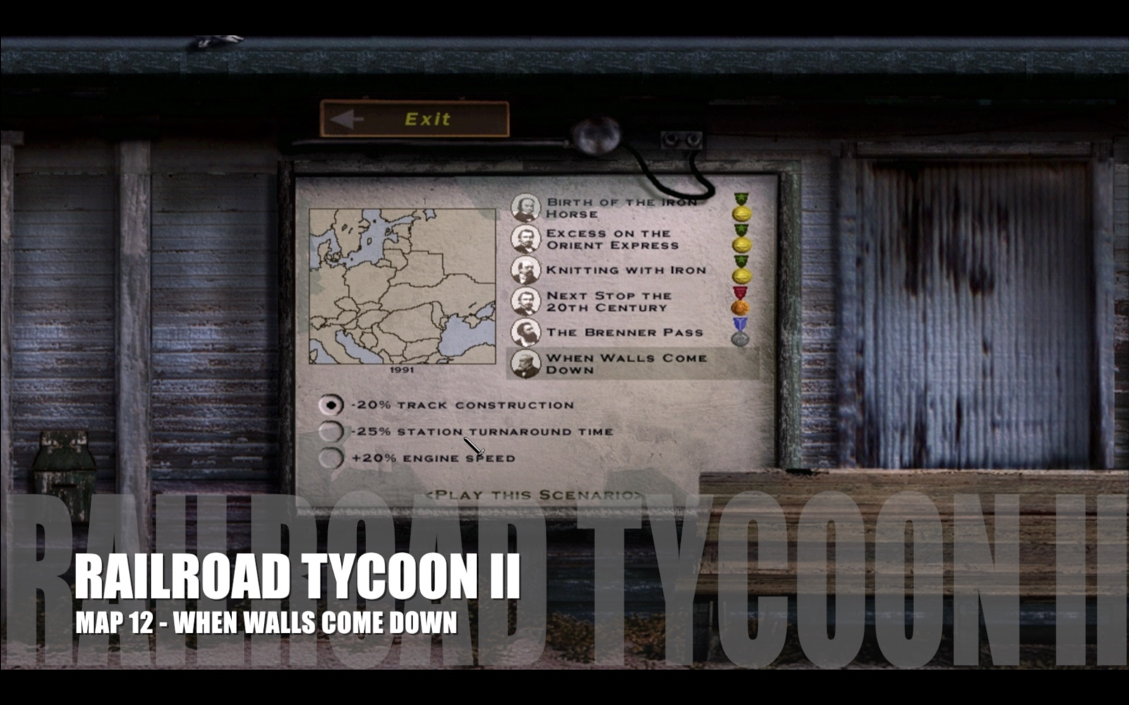 Railroad Tycoon II – Map 12 – When Walls Come Down