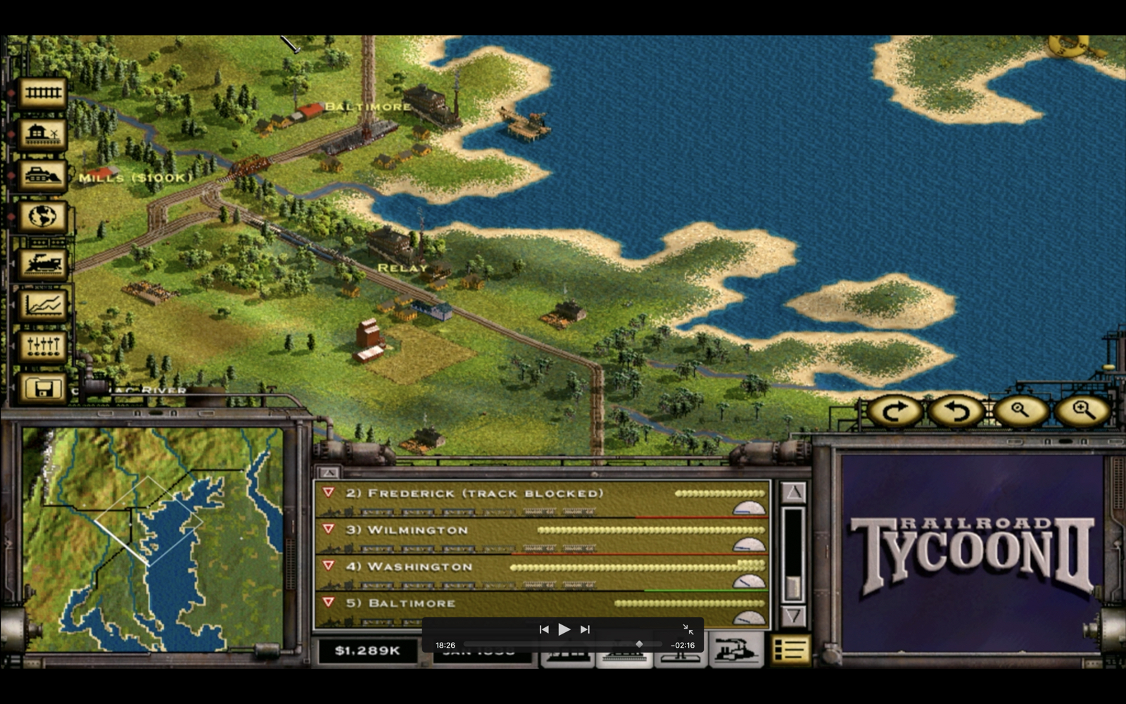 Railroad Tycoon II – Map 01 – The Iron Seed