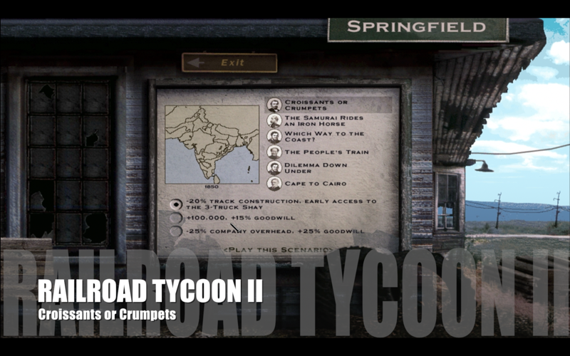 Railroad Tycoon II – Map 13 – Croissants or Crumpets
