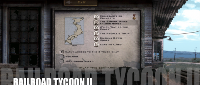 Railroad Tycoon II – Map 14 – The Samurai Rides an Iron Horse