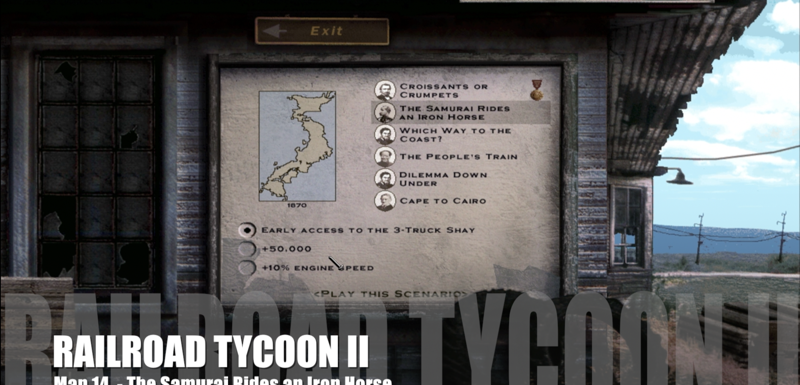 Railroad Tycoon II – Map 14 – The Samurai Rides an Iron Horse