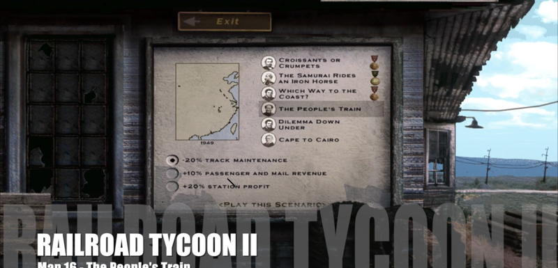 Railroad Tycoon II – Map 16 – The People's Train