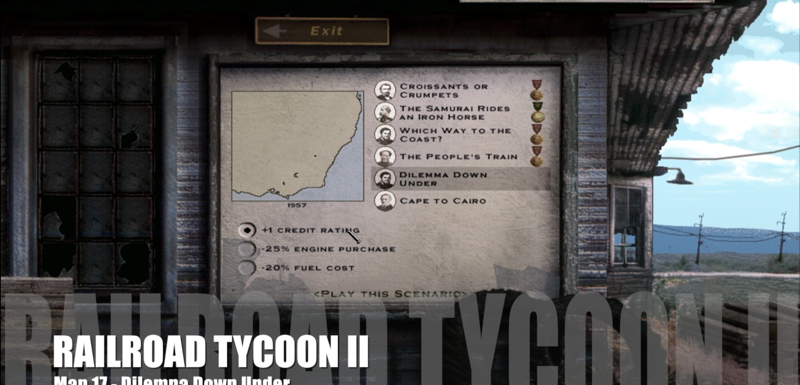 Railroad Tycoon II – Map 17 – Dilemma Down Under