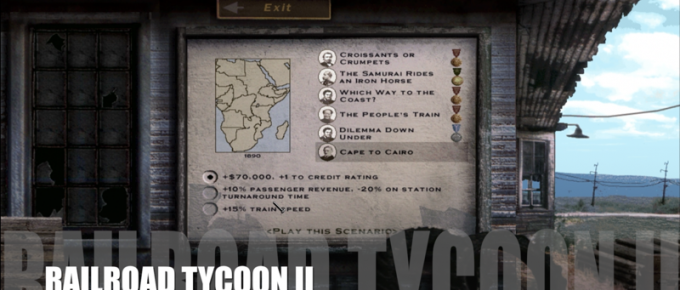 Railroad Tycoon II – Map 18 – Cape to Cairo